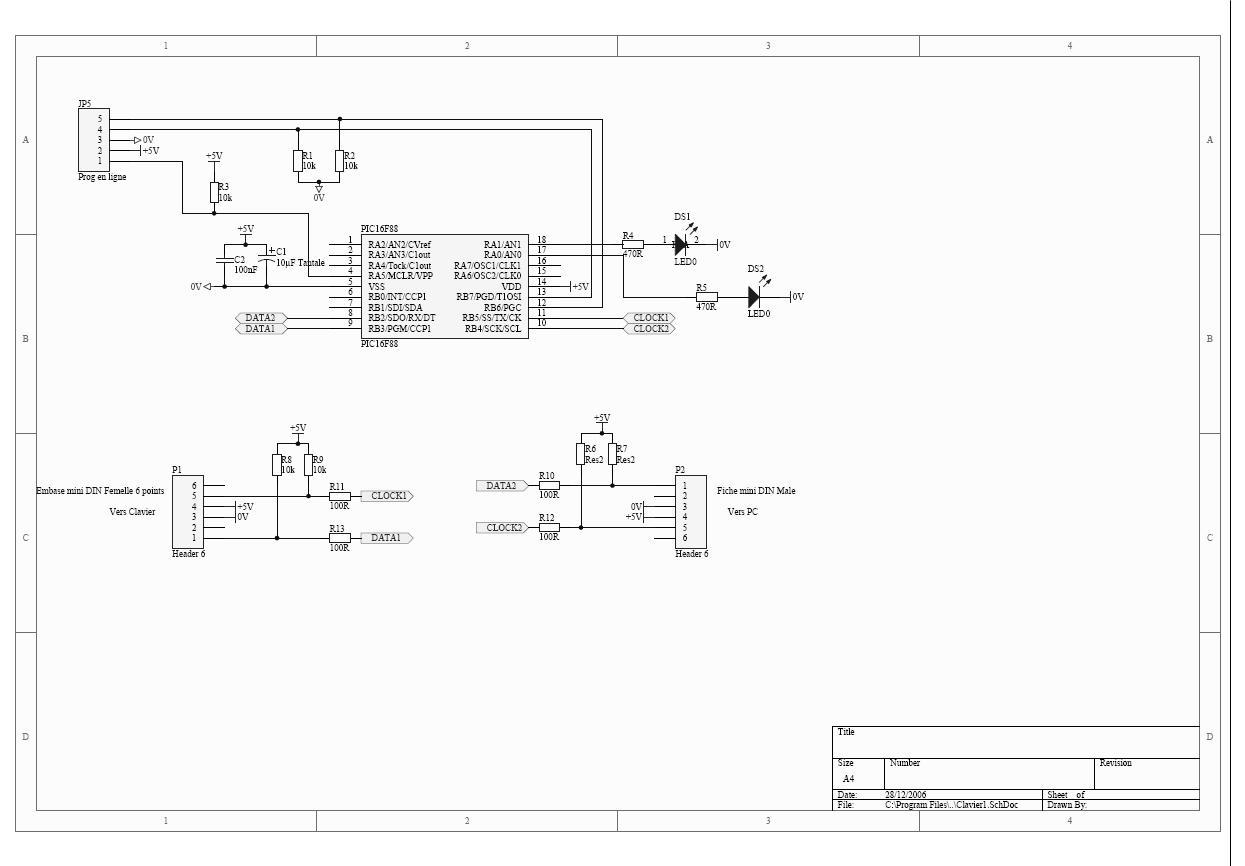 Schéma électronique du chiffreur PS/2